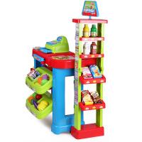 儿童过家家情景玩具套装男孩女孩玩具生日礼物 超市售货架 116雄城超市售货架