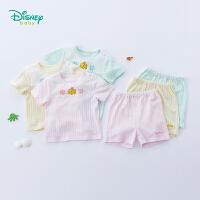 迪士尼(Disney)童装 婴儿衣服男女宝宝透气短袖套装2019夏季新品轻薄舒适衣服192T868