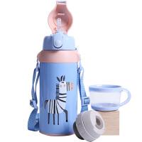 儿童保温水杯带吸管不锈钢水壶小学生幼儿园男女宝宝杯子