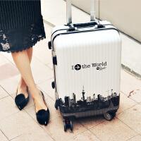 行李箱铝框拉杆箱万向轮女韩版箱子20寸学生24寸密码箱皮箱旅行箱