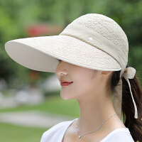 太阳帽女遮脸户外出游大檐骑车帽夏天遮阳帽女