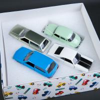 1:43合金汽车福特大众模型回力儿童2岁3岁男孩仿真车模玩具车套装 礼盒(4辆装)