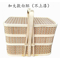 竹编送餐篮外卖手提篮礼品篮食盒酒店送餐盒礼品篮竹编野餐篮