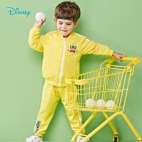 迪士尼Disney童装 男童潮酷活力套装新品舒适纯棉上衣裤子2件套191T873