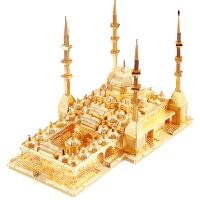 建筑拼装玩具拼酷3D立体拼图金属模型车臣之心清真寺儿童