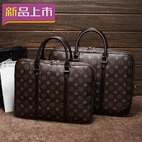 2018男女通用印印花文包女包手提包休闲男士商务包寸.6寸电脑包