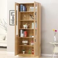 带门书柜书架简约现代置物架客厅柜子多功能储物柜玻璃书橱经济型