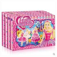 幼儿童3D立体贴贴画反复贴芭比公主磁贴换装益智游戏玩具