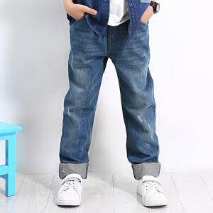 【书香节每满200减100】唯思凡童装男童春秋装2018新款裤子儿童牛仔裤中大童春秋季牛仔长裤