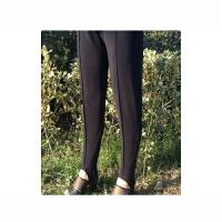 老式条纹健美裤 90老款脚蹬踩脚裤 中老女士宽松大码外穿打底裤 黑色