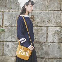 韩版糖果色字母印花帆布手提包复古文艺范学生包包森女风休闲斜跨