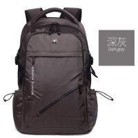 施维茨男士双肩包大容量时尚旅行书包休闲电脑包初中高中学生背包