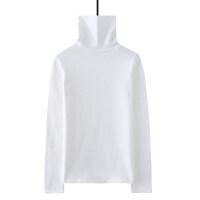 高领打底衫女2018秋冬长袖T恤白色修身加绒加厚秋衣内搭上衣