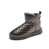WARORWAR法国新品YM168-189冬季欧美平底舒适水钻毛球兔耳朵女鞋潮流时尚潮鞋百搭潮牌雪地靴女