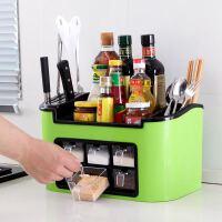 厨房置物架多功能调味用品收纳盒大号免打孔塑料架调料橱柜神器