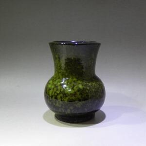 紫砂挂窑变釉折腰花盆