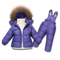 儿童羽绒服套装女1-3岁童装男童婴儿外套女童宝宝滑雪服2018新款