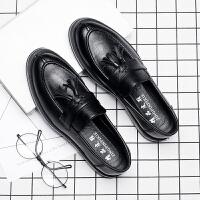 秋季英伦男鞋流苏豆豆鞋男软面一脚蹬懒人韩版潮鞋休闲皮鞋