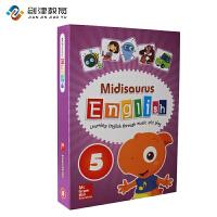 Midisaurus English 5 学生包 麦格劳希尔出版社进口米迪英语5级别幼儿启蒙英语教材培训班教材 买10