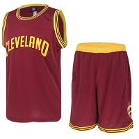 时尚新款运动训练篮球套装詹姆斯篮球球衣前卫骑士队训练服勒夫篮球服
