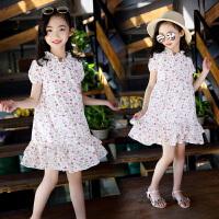 童装夏装新款韩版女童裙子儿童碎花泡泡袖裙子中大童连衣裙
