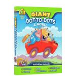 【4-6岁描点练习】 School Zone Giant Dot-to-Dots 儿童全彩描点绘练习册 英文原版