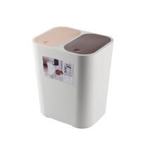 车载垃圾桶分类便携干湿分离双弹盖汽车内用多功能创意时尚垃圾箱