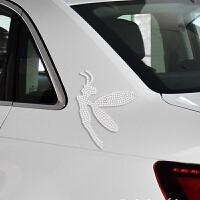 定制个性字母汽车水钻贴抖音友英文签名车贴钻石贴油箱盖立体镶钻