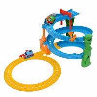 托马斯小火车合金系列之旋转赛道轨道玩具套装BHR97早教玩具抖音