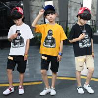 男童夏装新款套装夏季童装中大童两件套儿童夏装男童短袖套装