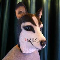 动物面具头套 马头猩猩猴子猪八戒搞笑直播演出舞会恐怖面具 新款