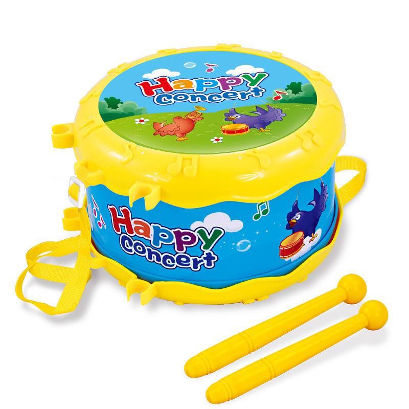 音乐欢乐乐器组合儿童摇铃喇叭沙锤手拍鼓过家家玩具 1226黄