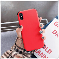 iPhone苹果xsmas手机壳xr气囊防摔软壳x保护套男女款潮牌 X / XS气囊液态 红色 送钢化膜 透明指环