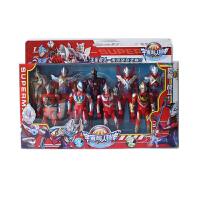 欧布奥特曼玩具银河赛罗迪加怪兽组合迷你变身器超人礼物套装