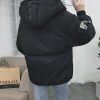 棉袄男冬季外套面包服男学生情侣装韩版潮流羽绒棉衣男短款潮 S 100斤以下
