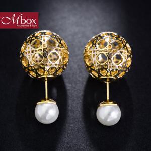 新年礼物Mbox耳钉 气质女款韩国版采用波西米亚风元素时尚耳钉耳环 玲珑沁
