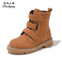 女童靴子2019秋款真皮靴子儿童马丁靴韩版复古短靴男童休闲单靴潮