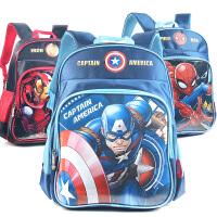 迪士尼书包小学生男童学前班1年级美国队长幼儿轻便卡通双肩背包