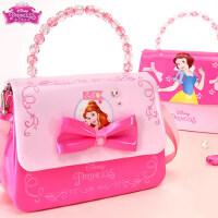 迪士尼女童公主时尚斜挎包少女迷你手提包女孩生日礼物儿童单肩包