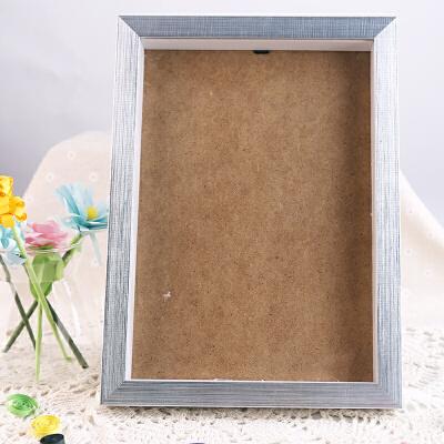 摆台相框A4亚克力相框塑料画框胶相框支架画框奖状证书 A4银色木质相框木质相框 A4大小 银色