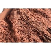 20180824174949885法式俏女郎 蕾丝高腰拼接 垂感百褶雪纺半身裙长裙#