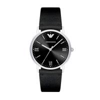 阿玛尼(Emporio Armani)手表皮制表带时尚休闲简约石英男士腕表AR11013