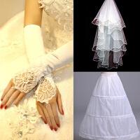 韩式新娘蕾丝一字肩露背绑带齐地公主婚纱礼服2018韩版新款5956