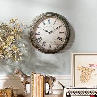 奇居良品 欧美式田园复古罗马数字挂钟时钟挂表装饰钟表 伦敦印记