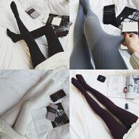 春装新款百搭纯色防勾丝打底丝袜修身显瘦弹力薄款连体裤袜女