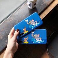日韩童年卡通iPhonexr手机壳苹果6/7/8plus防摔硅胶壳潮女款XSmax 苹果 7/8 猫和老鼠游泳imd