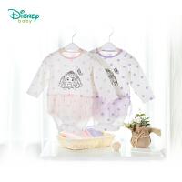 迪士尼Disney童装 女童套装春夏新款索菲娅宝宝圆领高腰休闲服包屁衣七分裤两件套181T775