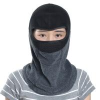 冬季抓绒骑行头套滑雪帽子面罩护脸防风防寒保暖