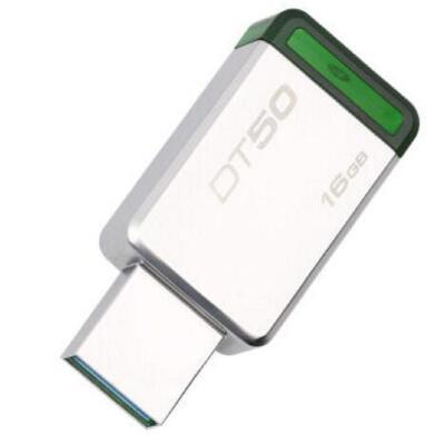 Kingston金士顿 USB3.1 16G金属U盘 DT50 绿色