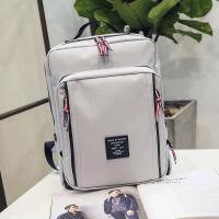 14寸韩版电脑包双肩包潮女大容量高中学生书包学院风简约背包旅行